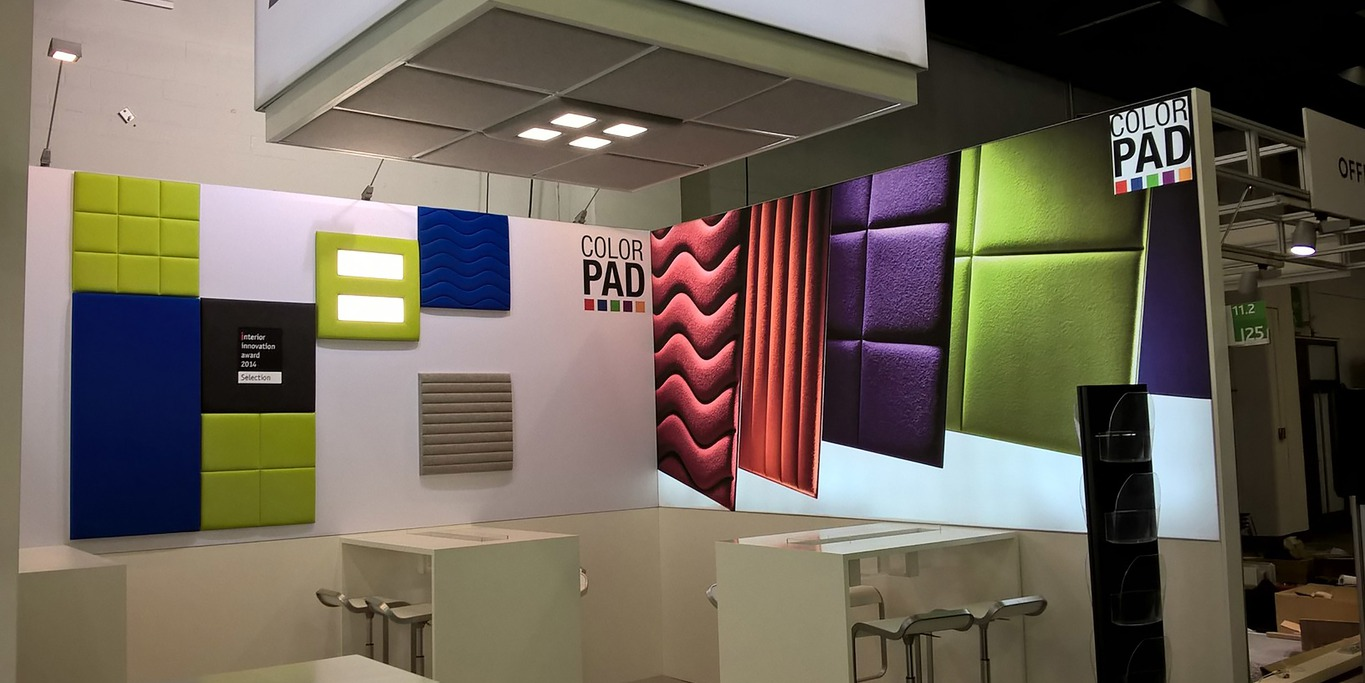 Acoustic panels colorPAD with illumination